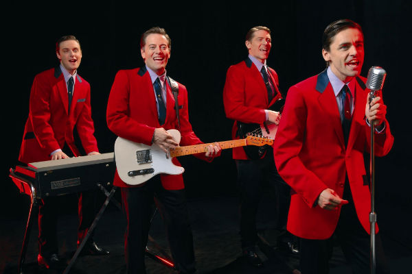The West End's original Jersey Boys: (l-r) Stephen Ashfield, Glenn Carter, Philip Bulcock and Ryan Molloy