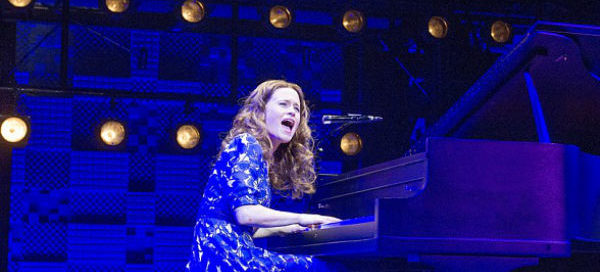 Katie Brayben as Carole King in Beautiful at the West End's Aldwych Theatre