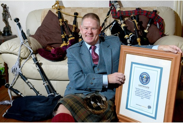 World record-breaking collector for Bagpipes