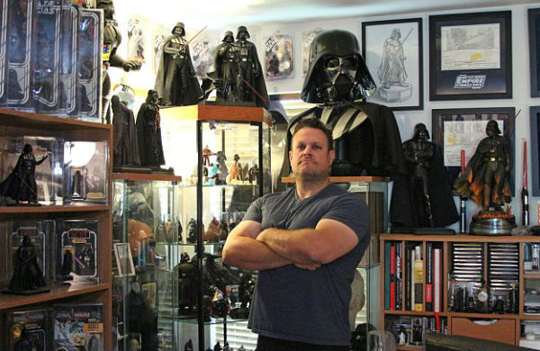 World record-breaking collector for Darth Vader merchandise
