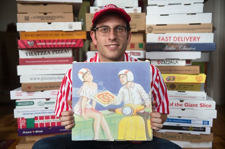 World-record breaking collector for Pizza boxes