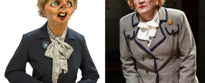 Steve Nallon voiced the Margaret Thatcher puppet for TV's Spitting Image and now plays her onstage in Dead Sheep at the Park Theatre, London. April 2015