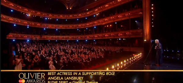 Angela Lansbury received a standing ovation at the 2015 Oliviers