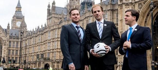 David Beckham, Prince William and David Cameron - or not? In William Gaminara's Three Lions
