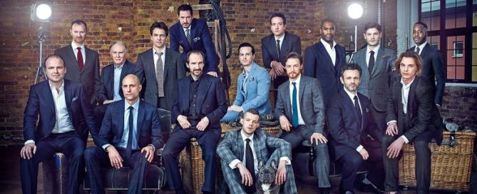 "The ""Drama Kings"" photoshoot for The Times. © Robert Wilson"