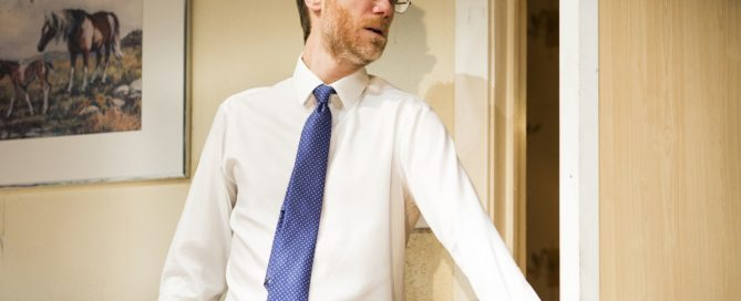 Stephen Merchant in The Mentalists at the West End's Wyndham's Theatre, London, July 2015. © Helen Maybanks