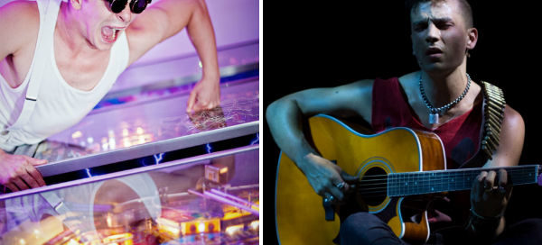 Ashley Birchall in Tommy vs Aaron Sidwell in American Idiot: both onstage in London in August 2015