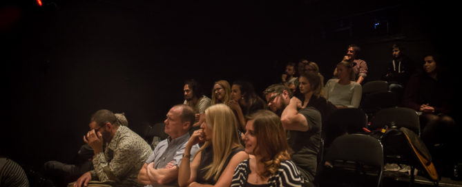 Audience at the Tristan Bates Theatre