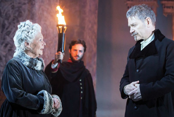 Judi Dench in THE WINTER'S TALE: Garrick Theatre, London - award presented to Judi Dench by Georgina Brown, Mail on Sunday