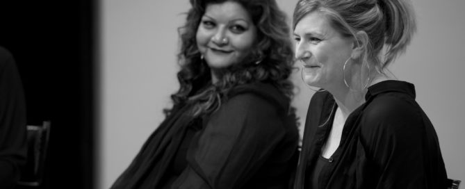 Two generations of female playwrights: Tanika Gupta and Anna Jordan at My Mother Said I Never Should panel discussion. © Peter Jones
