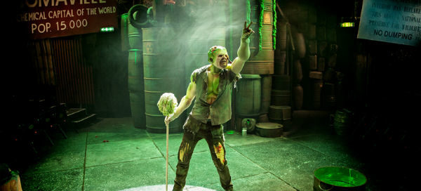 Mark Anderson stars as Toxie in The Toxic Avenger at Southwark Playhouse