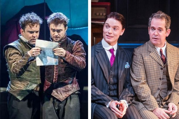 Doubling up with Stoppard: Joshua McGuire & Daniel Radcliffe in R&G, Freddie Fox & Tom Hollander in Travesties