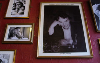 Dan Crawford features on the wall at the King's Head. © Jonny Fielding