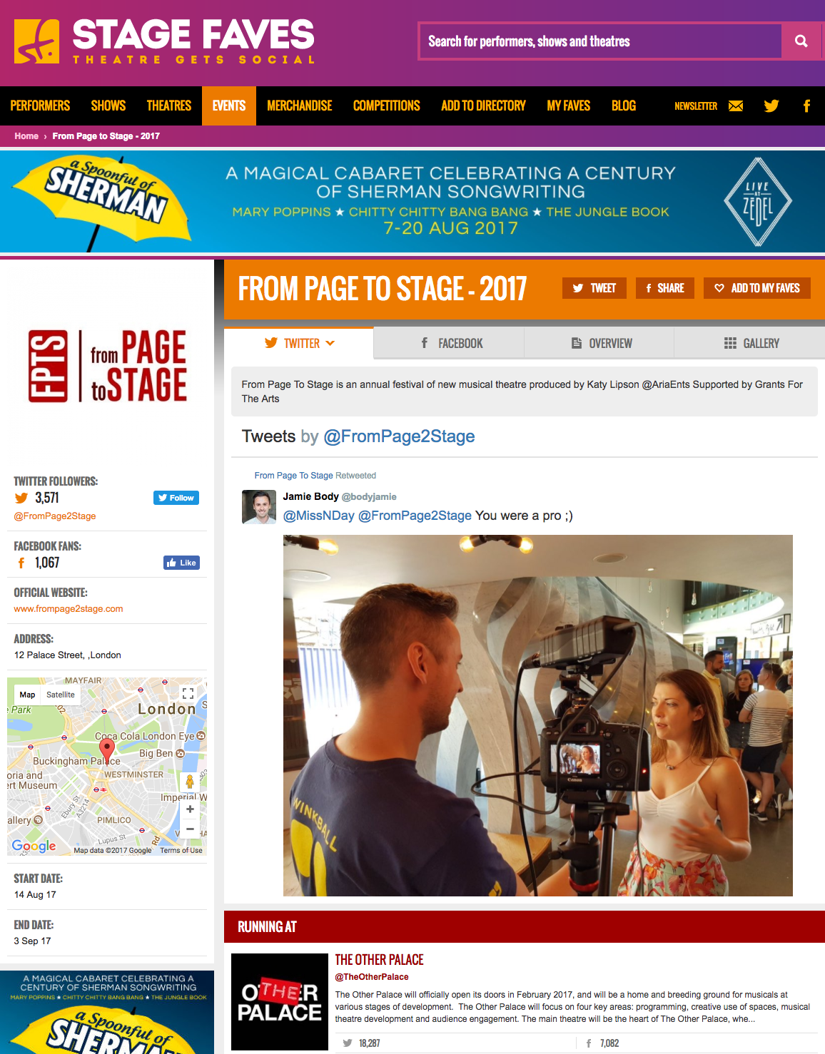 Get all social media for Some Lovers, From Page to Stage & its casts on www.stagefaves.com