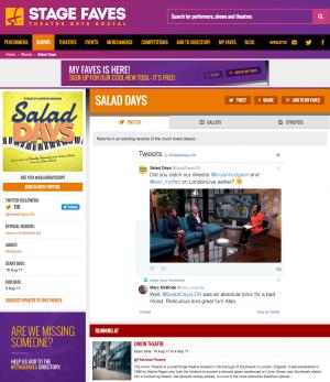Get all social media for Salad Days & its cast on www.stagefaves.com