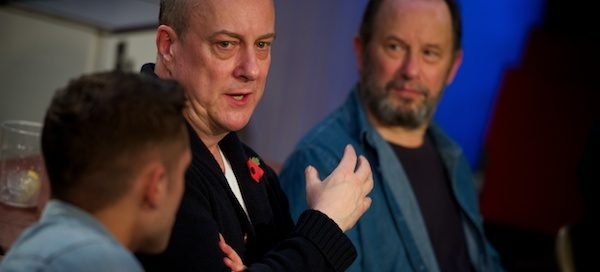 Dean Bone, Stephen Tompkinson & John Bowler at The Red Lion post-show Q&A on 9 November 2017. All Q&A photos © Peter Jones
