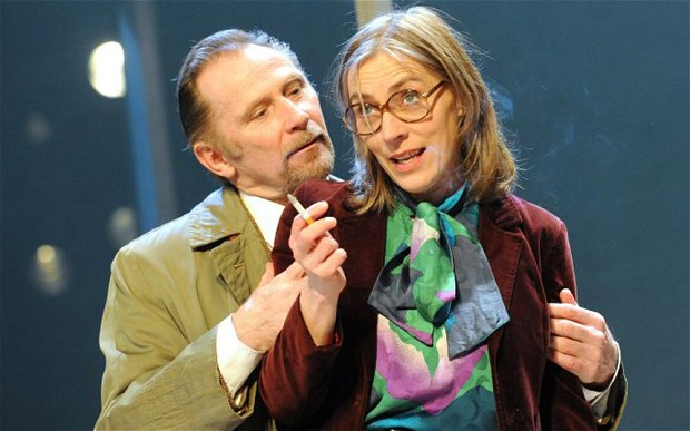 Saskia Reeves and Danny Webb play She and He in The Mistress Contract at the Royal Court, running until 22 March 2014