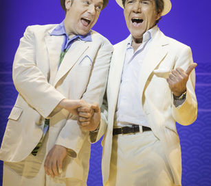 Rufus Hound and Robert Lindsay star as conmen in Dirty Rotten Scoundrels at the West End's Savoy Theatre, London