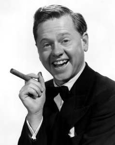 Dad and I watched Mickey Rooney on TCM