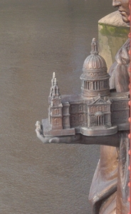 The miniature St Paul's Cathedral on Vauxhall Bridge, London