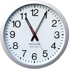 A clock provides visual stimulus and helps them keep track