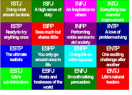 There are 16 different personality types