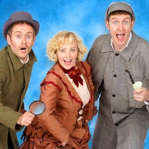 Dan and Jeff are joined by Lizzie Wortt in Potted Sherlock at Pleasance Courtyard