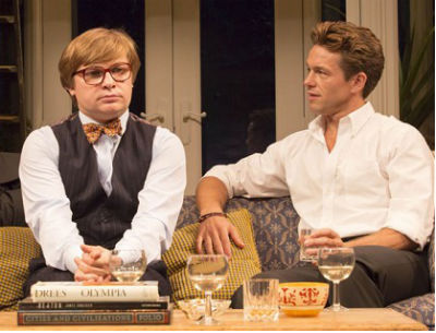 Jonathan Broadbent and Julian Ovenden in My Night With Reg at the Donmar Warehouse, London, August 2014