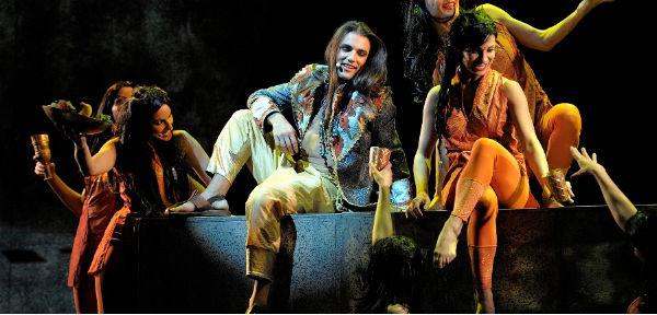 Giorgio Adamo stars as Siddhartha in Siddhartha, the Musical at the Assembly Rooms, 2014 Edinburgh Fringe