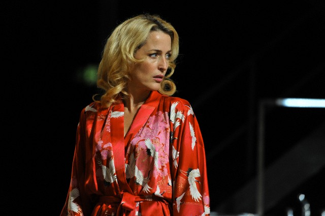 Gillian Anderson as Blanche Dubois in A Streetcar Named Desire at the Young Vic, London, August 2014