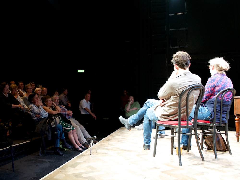 Spoiling post-show Q&A at Theatre Royal Stratford East, 4 Sep 2014. ©Peter Jones