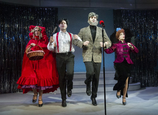 Anna-Jane Casey, Damian Humbley, Ben Lewis and Christina Bianco in Forbidden Broadway in the West End