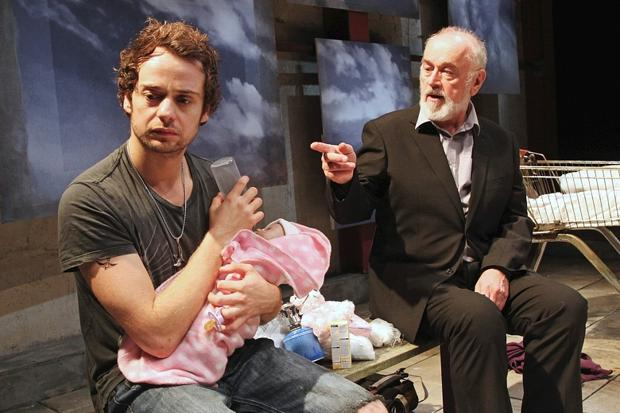 Alex Waldmann and Peter Egan in Jonah and Otto at the Park Theatre, London, Nov 2014