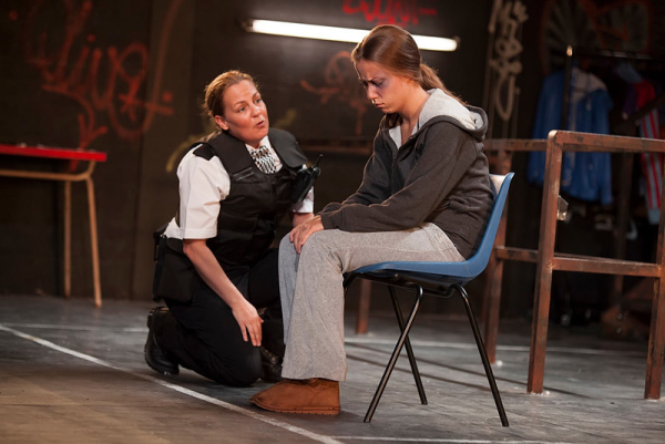 Lorraine Stanley and Tara Hodge in Wildefire at Hampstead Theatre, London, Nov 2014
