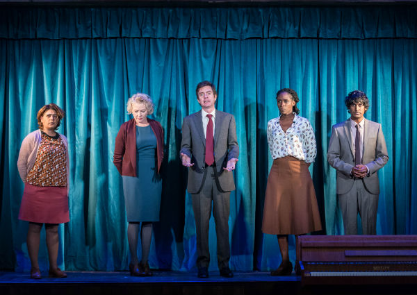 The cast of Hope at the Royal Court Theatre, London, December 2014