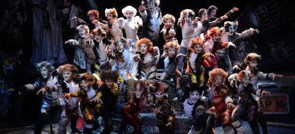The cast of Andrew Lloyd Webber's Cats at the London Palladium, West End