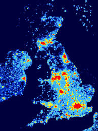 Light pollution map of the UK