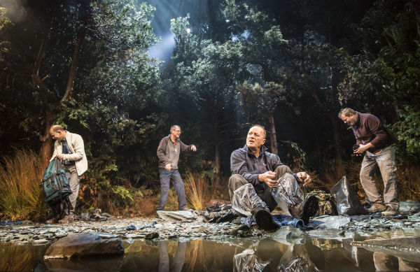 Robert Webb, Neil Morrissey and Adrian Edmondson in Neville's Island at the Duke of York's Theatre, London's West End 2014