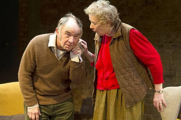 Robin Soans and Linda Bassett in Visitors at the Bush Theatre, London, December 2014