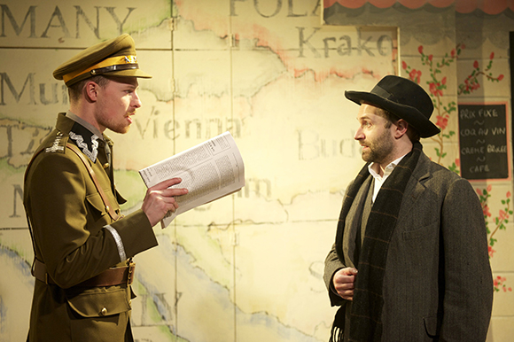 Nic Kyle and Alastair Brookshaw are refugees in The Grand Tour at the Finborough Theatre, London, January 2015