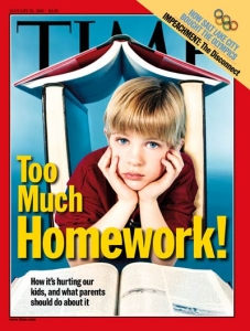 Too Much Homework: Time Magazine cover, January 1999