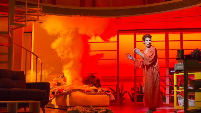 Tamsin Greig is on fire in Women on the Verge of a Nervous Breakdown at the West End's Playhouse Theatre, London, 2015