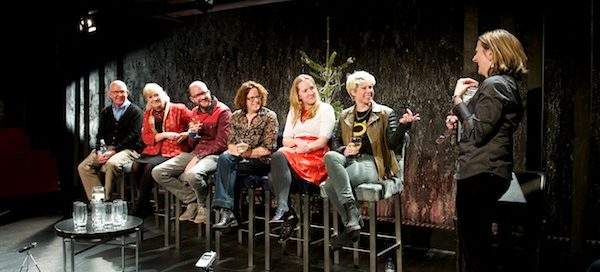 Feminism Today panelists: Laurie Slade, Polly Toynbee, Tim Robey, Polly Neate, Natalie Collins  and Caroline Criado-Perez, with chair Terri Paddock. © Peter Jones
