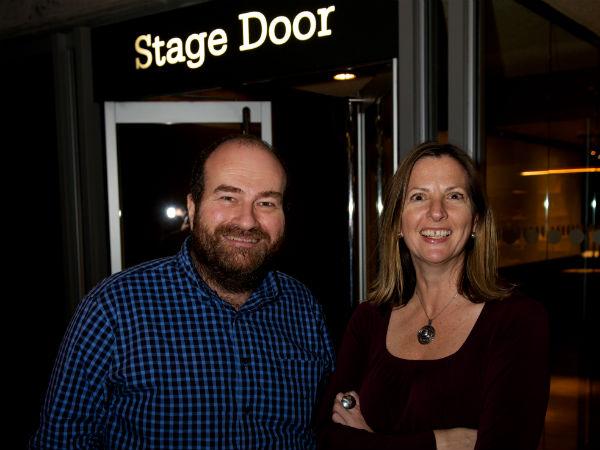 Theatre Mates: Mark Shenton and Terri Paddock. Photo: Peter Jones