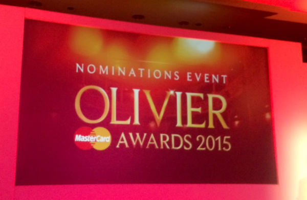 The 2015 Oliviers are once again sponsored by Mastercard