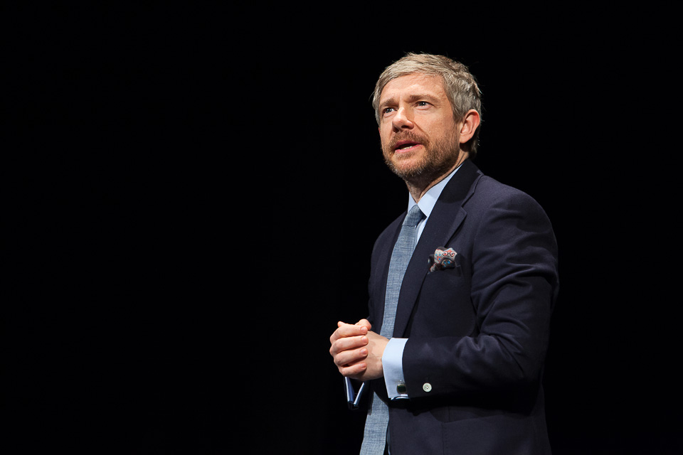Martin Freeman won Best Male Performer for Richard III at this year's Mousetrap Awards