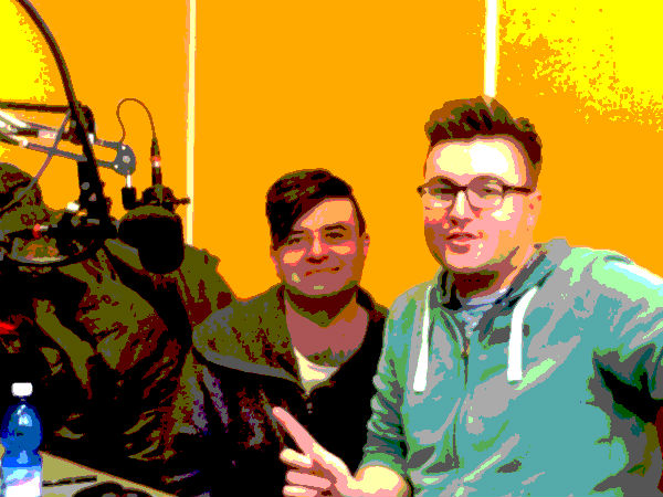 The Curtain Up presenters and poster boys Tim McArthur and Nathan Matthews on London's Resonance FM