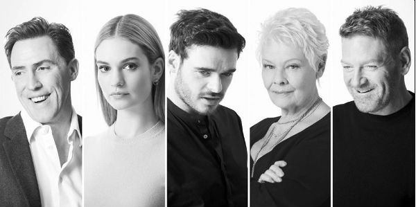 "Kenneth Branagh's ""Plays at the Garrick"" stars Rob Brydon, Lily James, Richard Madden, Dame Judi Dench and Branagh himself. © Johan Persson"