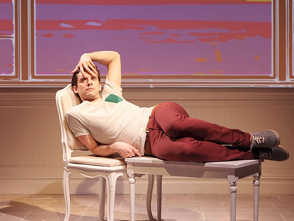 Michael Urie reprises his New York performance in Buyer & Cellar at the Menier Chocolate Factory, London, 2015.