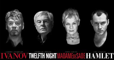 Branagh, Derek Jacobi, Dench and Jude Law led the 2008-9 Donmar West End season at Wyndham's
